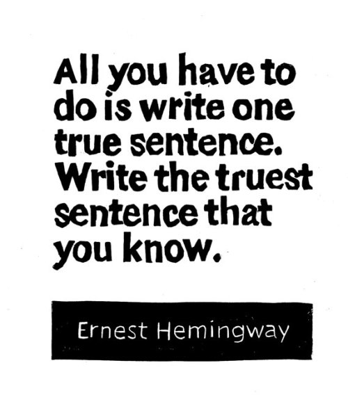 Happy 113th Birthday Ernest Miller Hemingway (b. July 21, 1899)  quote illustrated by Melissa Jennings :: via etsy.com