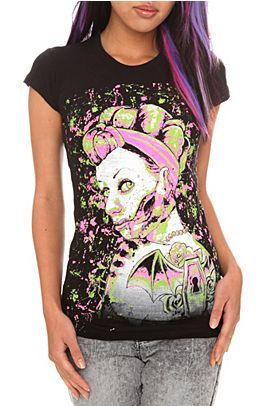 modernbettie:  Zombie Pin Up Girl by Too FastSize Medium$14.48 at Hottopic.com(Click Image for detail)