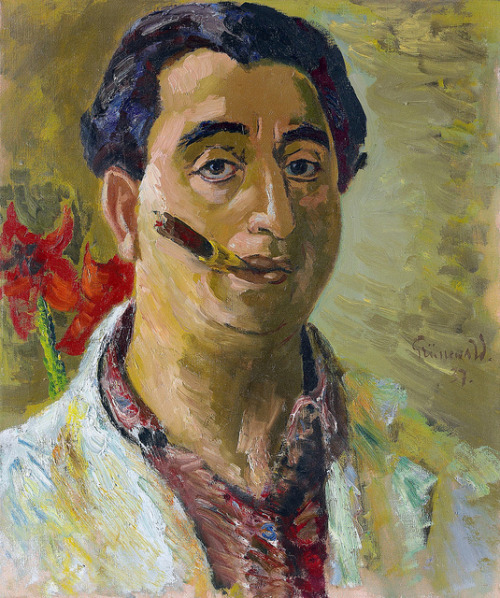 Grunewald, Isaac (1889-1946) - 1937 Self-Portrait with Cigar (Private Collection) by RasMarley on Flickr.