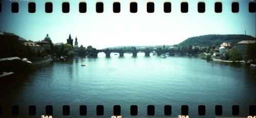 "lostandfoundinprague:  Charles bridge lomo lomo lomooo  Dear Tumblr Followers, I've been struggling for awhile about what is going to happen this Spring.  Namely graduation.  I've been going back and forth from Hollywood to Prague more times than I can remember.  Finally last night myself and Holly were getting our weekly dinner of delicious Chinese food.  She convinced me that I should go forward in the way I feel right and if things should change to be flexible. I went to bed saying (literally) ""Ok, God.  I'm choosing this option.  If it is right, lay a welcome mat in front of the door."" I went to bed. 12:15am I get a call from Holly that I shouldn't have heard as my phone was on vibrate.  But I did and when I picked up she said that her new roommate, Faith (ironically enough), was going to Prague to study this Spring and has been emailing with a pastor there who has been working with the Roma since 1999. I am speechless. God answers prayers.  In case you were wondering.  So here it is: I will be going to Prague when I graduate this Spring.  I will be ministering to the Roma population in the country for an extent of time which I do not need to know yet. Hopefully, I'll have the support of the Fulbright Scholars program.  However I am fully convinced that my God will provide a way for His will to get done. My God is awesome.  There is no doubt in my mind that He will provide. I stand amazed."