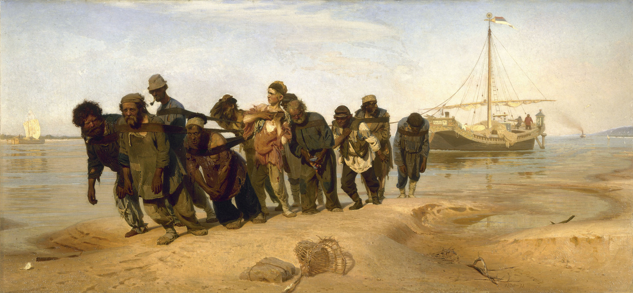 art-and-fury:  Barge Haulers on the Volga - Ilya Repin