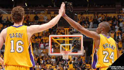 "foreverla:  ""As long as I'm there, he's going to be there."" —Kobe Bryant when asked on Pau Gasol's future with the Lakers"