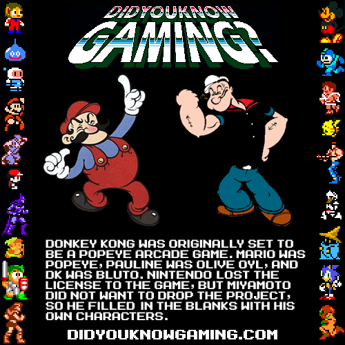 didyouknowgaming:  Donkey Kong. Submitted by Dr. Toreibo.