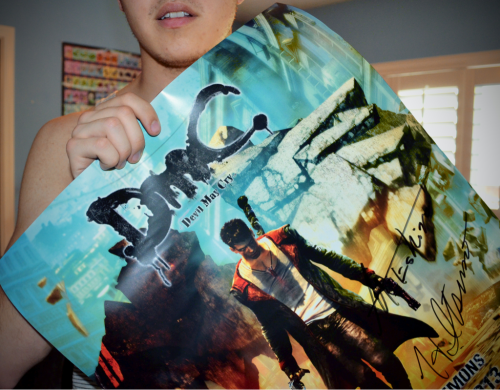 Also, I got a DmC poster signed by the producers :D