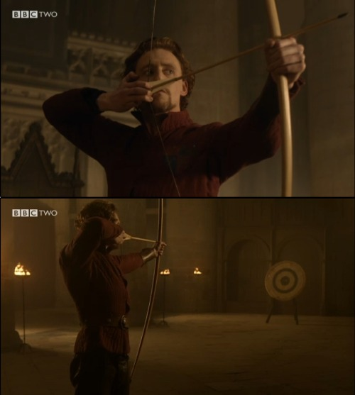 aprillka:  OMG. Archer.  Tom Hiddleston with a bow.