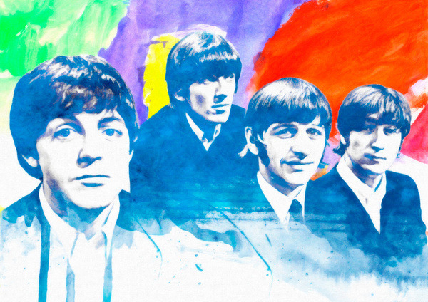 "fuckyeahpsychedelics:  ""The Beatles"" by Manish Mansinh"
