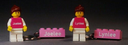 Engraved Mini-Figs and Keyrings for Joelee and Lynlee