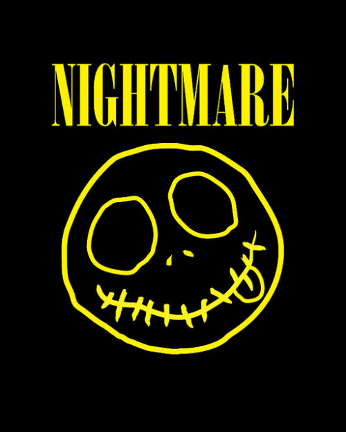 Smells Like Teen Spirit Nightmare Nirvana Before Christmas Sketch by Mitch Ansara :: via spacesick