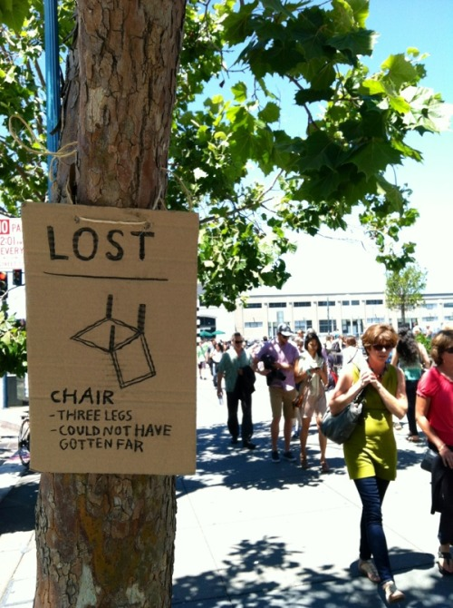 LOST : CHAIR http://bit.ly/NGNLDd