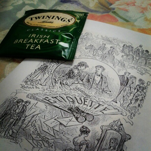#Irish #tea today's #menu. Girls' #summer #Victorian #tea. #July 21st, 2012 (Taken with Instagram)