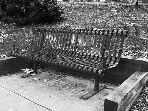 """B & W Bench"" by ThinkPics 