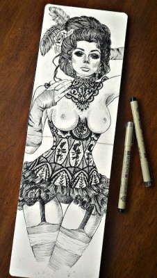 Sketchbook practice done with pen by me, Wendy Ortiz. To see more of my artwork please click here. Thank you Wendy!
