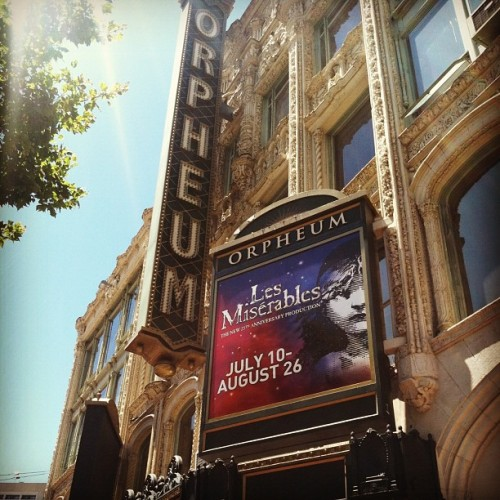 Finally!! #LesMizSF (Taken with Instagram at Orpheum Theatre)