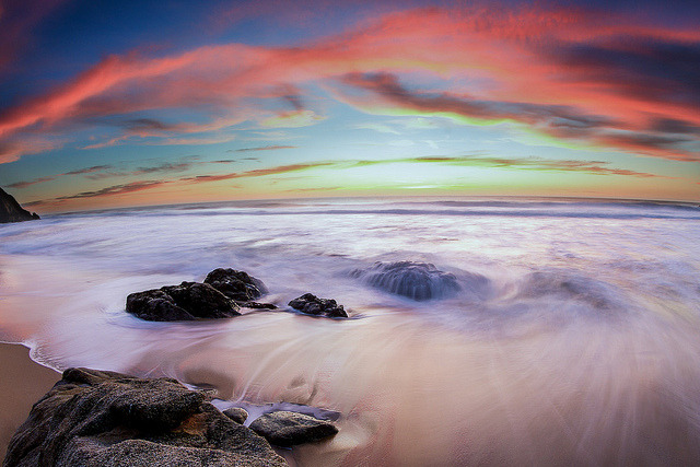 That One Sunset - Gray Whale Cove on Flickr.Via Flickr: Prints: tobyharriman.smugmug.com/ [www.tobyharriman.com] [facebook] [Google+] [Tumblr] [Twitter] [redbubble]View on Black © Toby Harriman all images Creative Commons Noncommercial. Please contact me before use in any publication.