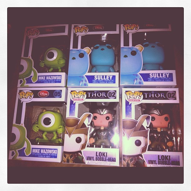Stocking up for the shop! Our #retiredfunkos ! #Avengers #loki #sulley #mike #funkopop #poptoys #popwars #follow4funko #marvel #disney #funkofamily  (Taken with Instagram)
