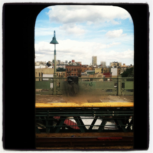 From the 1 train, headed downtown