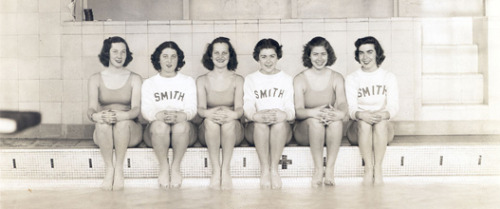 "vintagesevensisters:  ""Smith College lifeguards, 1939."" (Smith College Archives)"