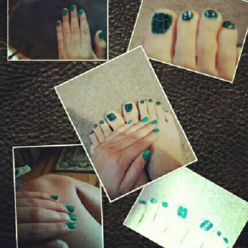 #nails #vernis #crackel #cute  (Taken with Instagram)