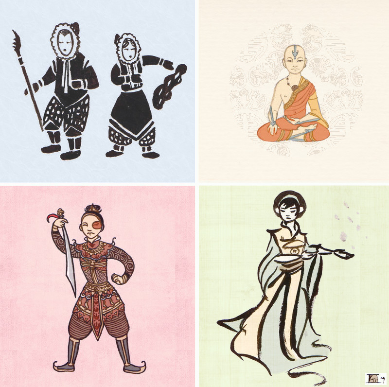 brain-food:  Avatar the Last Airbender - Stylizedby =RoseMuse