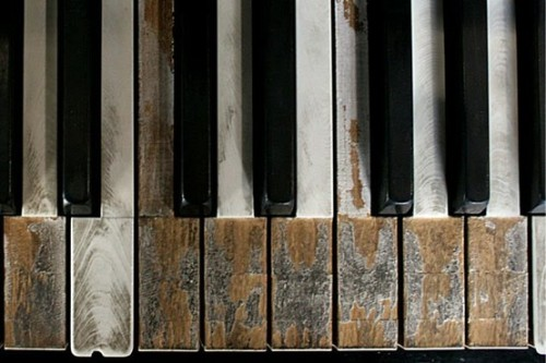 birdcagewalk:  tearingthepages:Old piano keys …