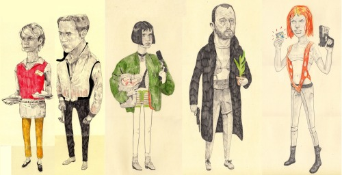 selection of the film characters I have drawn, sorry