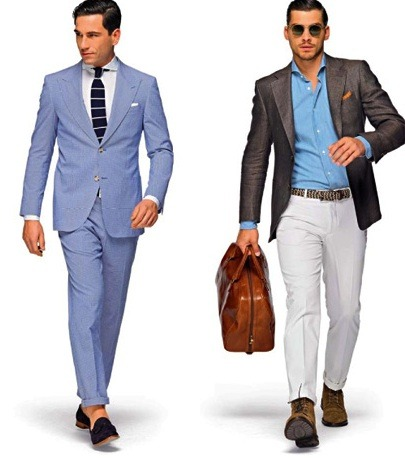Interesting…  mensfashionworld:  Suitsupply Tailored Summer
