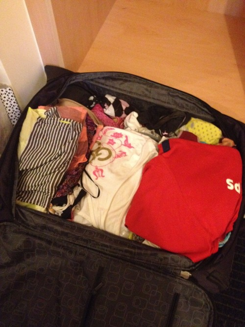 Day Two Hundred Two: attempting to keep this suitcase under 20kg… currently at 16kg with only a little to go! I think I can, I think I can…