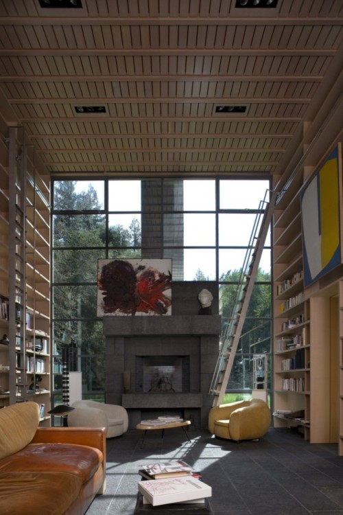 Living Rooms : Amazing house in Woodside, California, EEUU by Bohlin Cywinski Jackson displayed on Blog de Casas