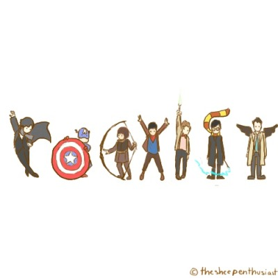 haileynothallie:  Coexist, Nerds.  Yes. I like it. Another! :D
