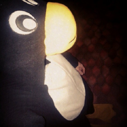 Time for this penguin to catch some shut-eye. #onesie #penguin #sleep #goodnight (Taken with Instagram)