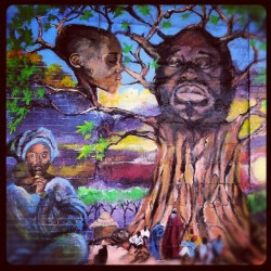The Tree of Life., #ClintonHill #FultonStreet #Brooklyn #StJamesPlace #StreetArt #Art #AfricanArt #Mural #Androidography #AmateurPhotography  (Taken with Instagram at Clinton Hill)