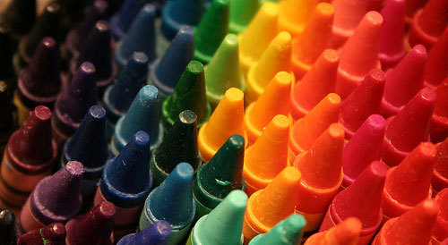 "penneay7:  what—a—beautiful—mess:  maggieblueberry:   The Crayola-fication of the World How we gave colors names, and it messed with our brains. In Japan, people often refer to traffic lights as being blue in color. And this is a bit odd, because the traffic signal indicating 'go' in Japan is just as green as it is anywhere else in the world. So why is the color getting lost in translation? This visual conundrum has its roots in the history of language. Blue and green are similar in hue. They sit next to each other in a rainbow, which means that, to our eyes, light can blend smoothly from blue to green or vice-versa, without going past any other color in between. Before the modern period, Japanese had just one word, Ao, for both blue and green. The wall that divides these colors hadn't been erected as yet. As the language evolved, in the Heian period around the year 1000, something interesting happened. A new word popped into being –midori – and it described a sort of greenish end of blue. Midori was a shade of ao, it wasn't really a new color in its own right. One of the first fences in this color continuum came from an unlikely place – crayons. In 1917, the first crayons were imported into Japan, and they brought with them a way of dividing a seamless visual spread into neat, discrete chunks. There were different crayons for green (midori) and blue (ao), and children started to adopt these names. But the real change came during the Allied occupation of Japan after World War II, when new educational material started to circulate. In 1951, teaching guidelines for first grade teachers distinguished blue from green, and the word midori was shoehorned to fit this new purpose. In modern Japanese, midori is the word for green, as distinct from blue. This divorce of blue and green was not without its scars. There are clues that remain in the language, that bear witness to this awkward separation. For example, in many languages the word for vegetable is synonymous with green (sabzi in Urdu literally means green-ness, and in English we say 'eat your greens'). But in Japanese, vegetables are ao-mono, literally blue things. Green apples? They're blue too. As are the first leaves of spring, if you go by their Japanese name. In English, the term green is sometimes used to describe a novice, someone inexperienced. In Japanese, they're ao-kusai, literally they 'smell of blue'. It's as if the borders that separate colors follow a slightly different route in Japan. And it's not just Japanese. There are plenty of other languages that blur the lines between what we call blue and green. Many languages don't distinguish between the two colors at all. In Vietnamese the Thai language, khiaw means green except if it refers to the sky or the sea, in which case it's blue.  The Korean word purueda could refer to either blue or green, and the same goes for the Chinese word qīng. It's not just East Asian languages either, this is something you see across language families. In fact, Radiolab had a fascinating recent episode on color where they talked about how there was no blue in the original Hebrew Bible, nor in all of Homer's Illiad or Odyssey! I find this fascinating, because it highlights a powerful idea about how we might see the world. After all, what really is a color? Just like the crayons, we're taking something that has no natural boundaries – the frequencies of visible light – and dividing into convenient packages that we give a name.  This is so cool. I've heard before of the phenomenon being visible in works like the Iliad where the ocean is described as ""wine-colored"" (i.e. red) because there was no separate word for what we perceive as blue. But I didn't realize that it occurred in more modern contexts, as well.  This is fascinating. Again, in the Iliad (good old Homer), there's a bit, I think, where the sky is described as ""bronze"". This is weird for us, but all it really means is that the sky was bright and it was sunny, like the sun shining on a bronze shield - this, like the wine-coloured sea, comes from the fact that there wasn't a word for what we perceive as blue."