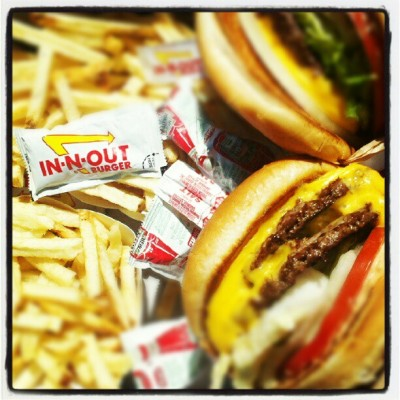 That hits the spot :)) #in-n-out #delicious (Taken with Instagram)