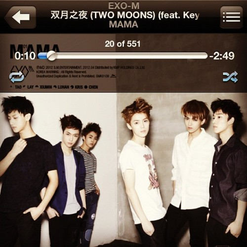 #nowplaying - Two Moons ft. #key of #SHINee #cpop #kpop #exo #exom #weareone #superbabo  (Taken with Instagram)