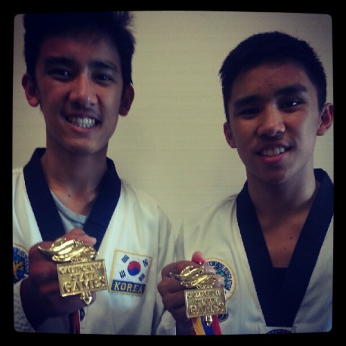Sparring Gold!!! :) (Taken with Instagram at Town and Country Resort and Convention Center)