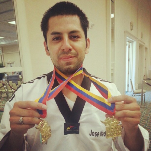 Double Sparring Gold!!! (Taken with Instagram at Town and Country Resort and Convention Center)