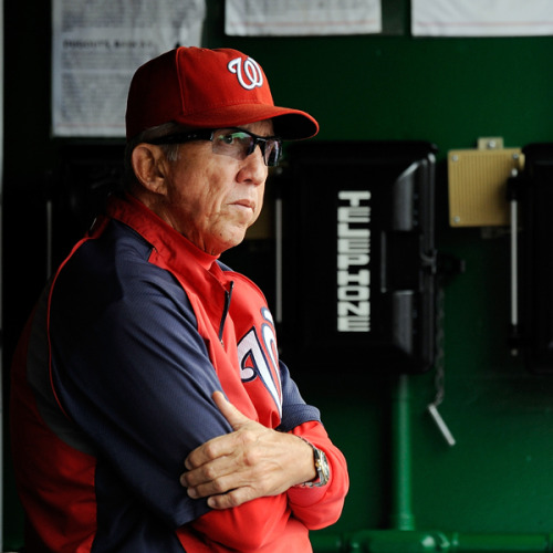 Davey Johnson has the 20th best winning percentage of all-time, .562. That includes a .500 or better percentage with every team he has managed: Mets, Reds, Orioles, Dodgers, and the Nationals. If the Nationals hold their position in the NL East, Johnson will become the first manager to lead four different teams to the playoffs. (Only the Dodgers didn't reach the postseason.) Hall of Fame anyone? mightyflynn:  Davey Johnson July 21, 2012 Photo by Patrick McDermott/Getty Images