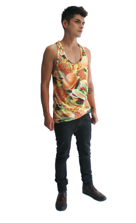 invertedskin:  Burger & fries tank top available for a limited time at Inverted Skin. Follow us!