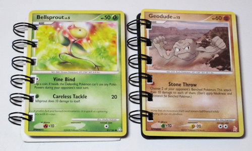 thenintendard:  5 POKEMON Trading Cards Recycled Into Mini Notebooks By - heavensentcrafts