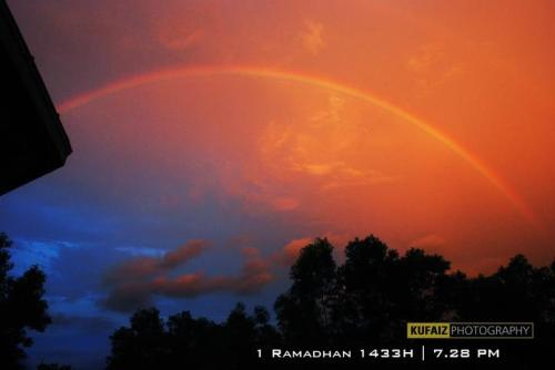 SUBHANALLAH..1st Ramadhan magnificent view at my university..