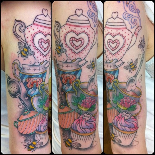 guendouglas:  Worked more on darling Sophie's arm today!! So fun!!!!!! (Taken with Instagram at Magnum Opus)
