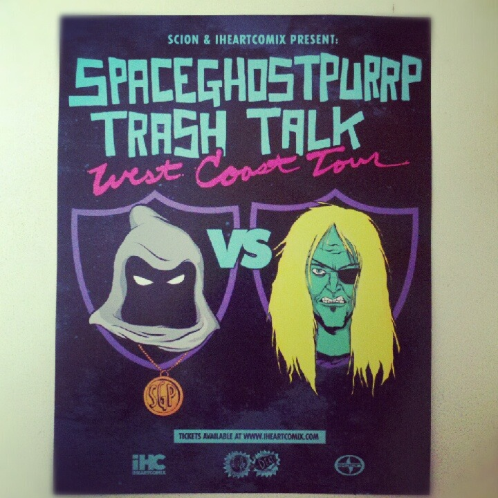 checking this out tonight! spaceghostpurrp x trash talk.