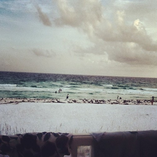 View from our beach house lower balcony  (Taken with Instagram at Miramar Beach)