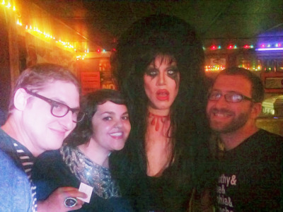 just me and some pals. (got to met the fantastic Sharon Needles last night!!!!!!)