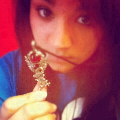 Yay! My sister went to Lillydale  and brought me back this cute dragon necklace.
