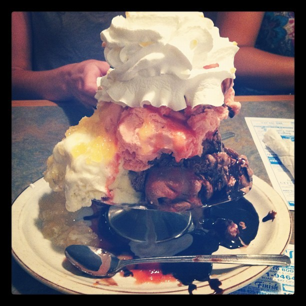 Banana Split a la Texan (Taken with Instagram)