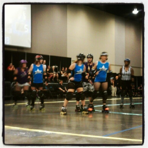 Rocking it MRV style! (Taken with Instagram at Magnolia Roller Vixens Bout At Jackson Convention Center)