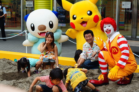 Not fashion related, but time to plug my day job… Pikachu Meets Ronald McDonald at Pokémon Happy Meal Event