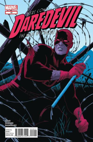 what-thecomics:  Daredevil #15 Publisher: Marvel Writer: Mark Waid Artist: Chris Samnee Colorist: Javier Rodriguez Cover Art: Paolo Rivera Release Date: 07/18/12  I know I posted this earlier, but I just read it. It's incredible. Just like all of Daredevil has been up to this point. Thank you, Mark Waid and Chirs Samnee.