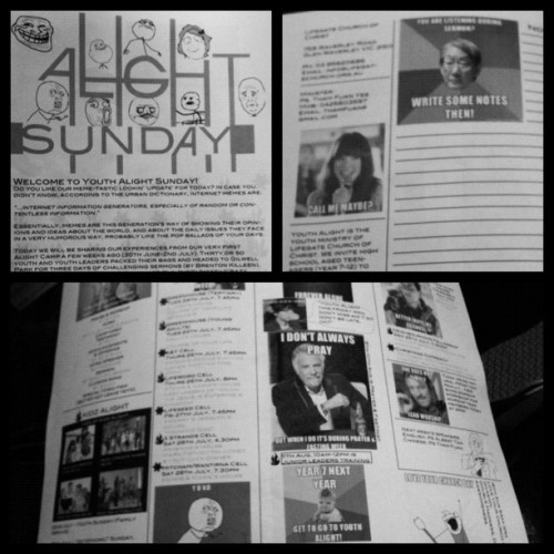 #worlds #AWESOMEST #church #bulletin :D (#memes)@frametastic (Taken with Instagram)